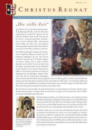 Advent 2011 - Institut Christus König und Hoherpriester