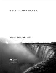 NPC 2007 Annual Report - Niagara Parks