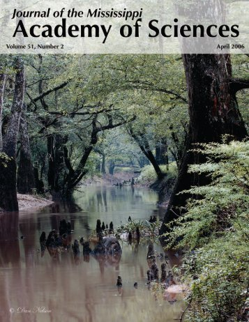 Volume 51, Number 2; April 2006 - Mississippi Academy of Sciences