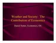 The Contribution of Economics - Societal Impacts Program