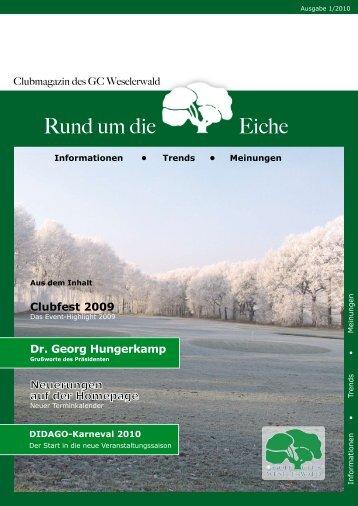 Sekretariat- Veränderung - Golfclub Weselerwald eV