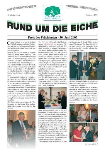 30. Juni 2007 - Golfclub Weselerwald eV