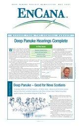 Deep Panuke Project Newsletter - Encana