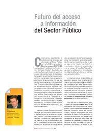 Futuro del acceso a información del Sector Público