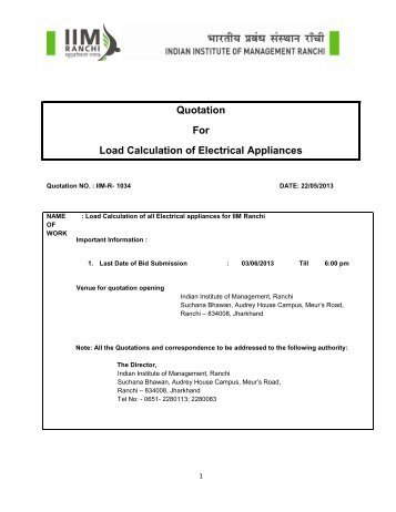 Electric Load Calculation-Quotation Notice_IIM Ranchi_22.05.pdf