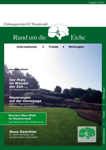 GCWW: Interner Mitgliederbereich - Golfclub Weselerwald eV