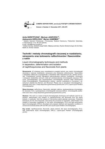 Liquid chromatography techniques and methods in separation ...