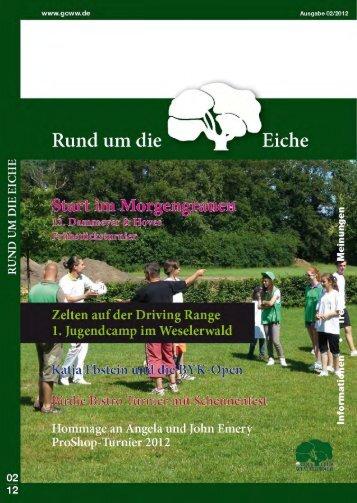 Clubzeitschrift 02 / 2012 als DOWNLOAD - Golfclub Weselerwald eV