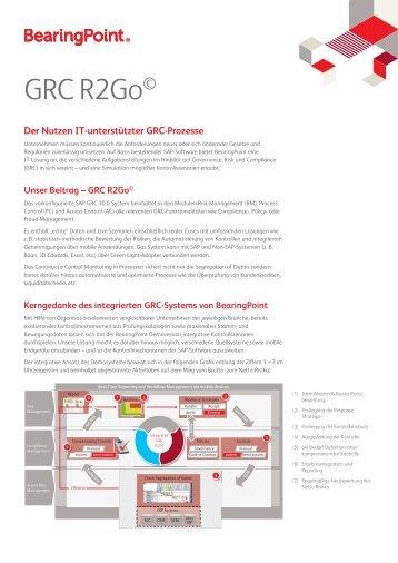 GRC R2Go© - BearingPoint ToolBox
