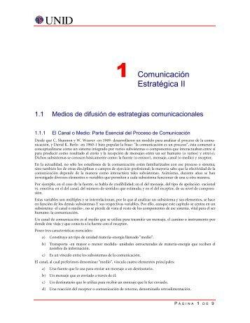 1 Comunicación Estratégica II
