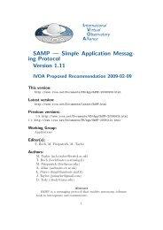 SAMP — Simple Application Messag- ing Protocol Version 1.11 - IVOA