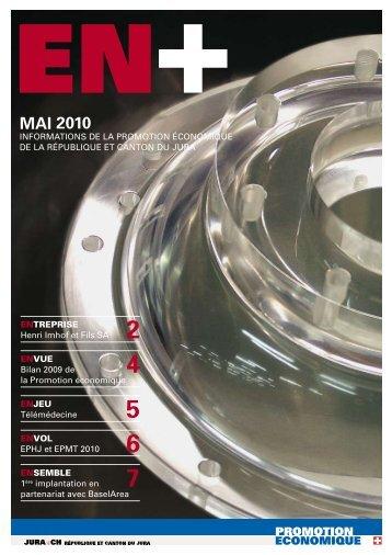 MAI 2010 - Promotion économique de la république et canton du Jura