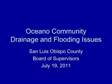 Board of Supervisors Meeting - SLOCountyWater.org