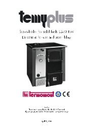 Stove-boiler for solid fuels 12-30 KW Directions for use ... - Termomont