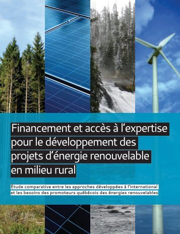 Financement et accès à l'expertise pour le développement des ...