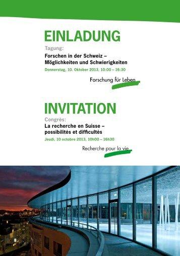 Flyer herunterladen (pdf, 324 KB) - Forschung für Leben