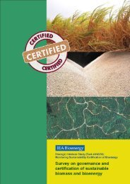 T2: Survey on governance and certification of sustainable biomass ...