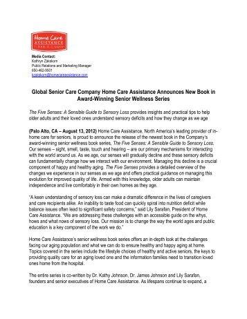 Global Senior Care Company Home Care Assistance Announces ...