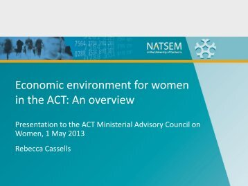 Economic security: the impact of the gender wage gap on ... - NATSEM