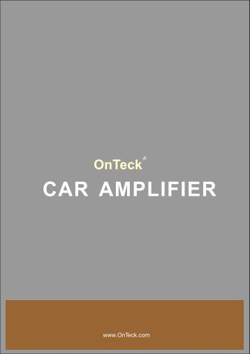 Car Amplifi... - OnTeck