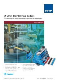Finder 39 Series Relay Interface Modules - NHP