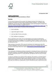 Overview - FSC Watch