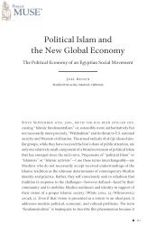 Political Islam and the New Global Economy - Project MUSE