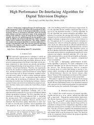 High Performance De-Interlacing Algorithm for Digital ... - IEEE Xplore