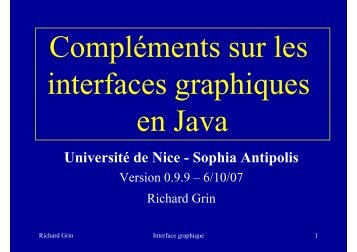 Compléments GUI