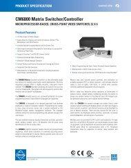 CM6800 Matrix Switcher/Controller - CCTV Center