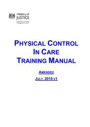 Physical Control in Care Training Manual - Independent Advisory ...