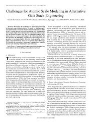 Challenges for atomic scale modeling in alternative gate stack ...