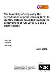 The feasibility of employing the accreditation of prior learning (APL ...