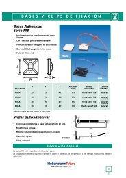 BASES Y CLIPS DE FIJACION Bases Adhesivas Serie MB Bridas ...