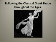Following the Classical Greek Drape through the Ages. - TEXMEDIN