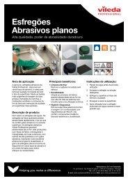 PDS esfregões abrasivos planos - Vileda Professional