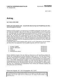 Antrag - Sagel, Rüdiger (Die Linke)