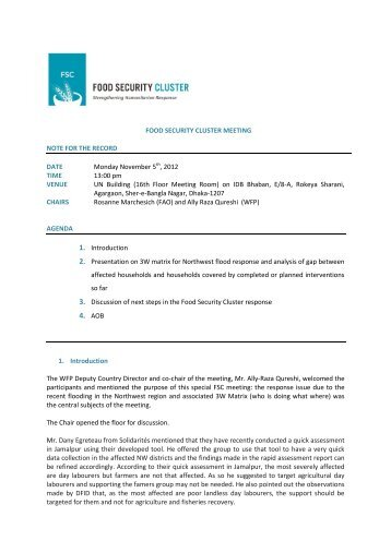 FSC Meeting Minutes Nov 5 2012 (2).pdf - Food Security Clusters
