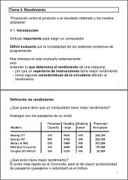 """Tema 4. Rendimiento """"Proporción entre el producto o el resultado ..."""