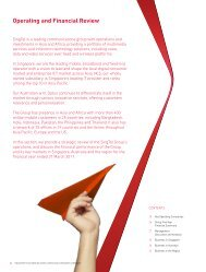 Operating and Financial Review - SingTel
