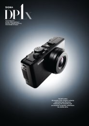 The DP series: the world's only compact cameras with ... - SIGMA DP