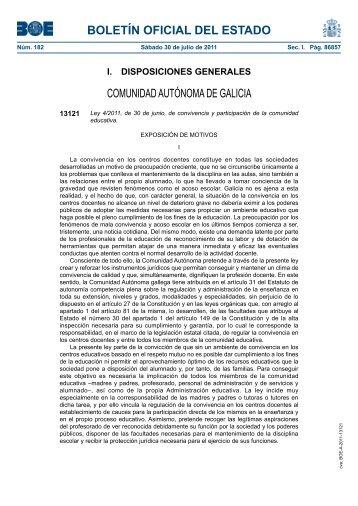 Disposición 13121 del BOE núm. 182 de 2011 - BOE.es