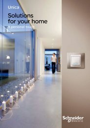Unica > SOLUTIONS FOR YOUR HOME - Schneider Electric
