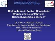 Bluthochdruck, Zucker, Cholesterin - Medizinische Klinik und ...