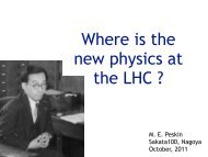 Where is the new physics at the LHC ?