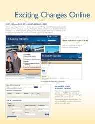 Exciting Changes Online - UC Berkeley Extension