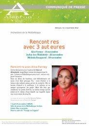 Rencontres avec 3 auteures - Alençon