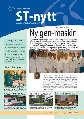 ST-nytt nr.17, 2010 - Sykehuset Telemark