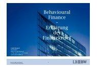 Behavioural Finance – Erklärung der Finanzkrise ...
