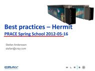 Best practices – HERMIT - Prace Training Portal